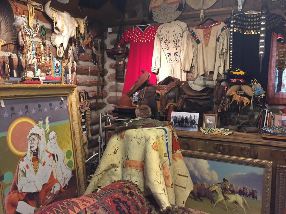 Inside artist Tom Saubert's Kalispell, Montana studio. CHADD SCOTT