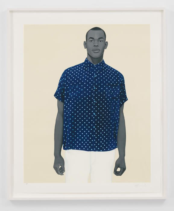 Handsome, 2020. Amy Sherald (American, b. 1973). Color screenprint; 102.2 x 81.3 cm; sheet 114.9 x 94 cm. The Cleveland Museum of Art, Gift of the Print Club of Cleveland