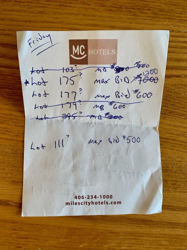 "Dan Messerli's ""March in Montana"" 2021 notes."
