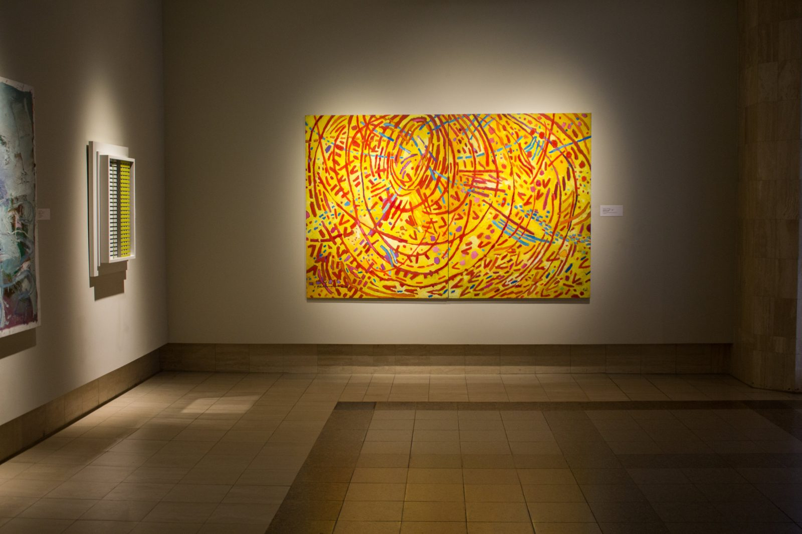 Mildred Thompson (American, 1936 – 2003), Magnetic Fields, 1991, oil on canvas, 61 ¾ x 95 ½ in.