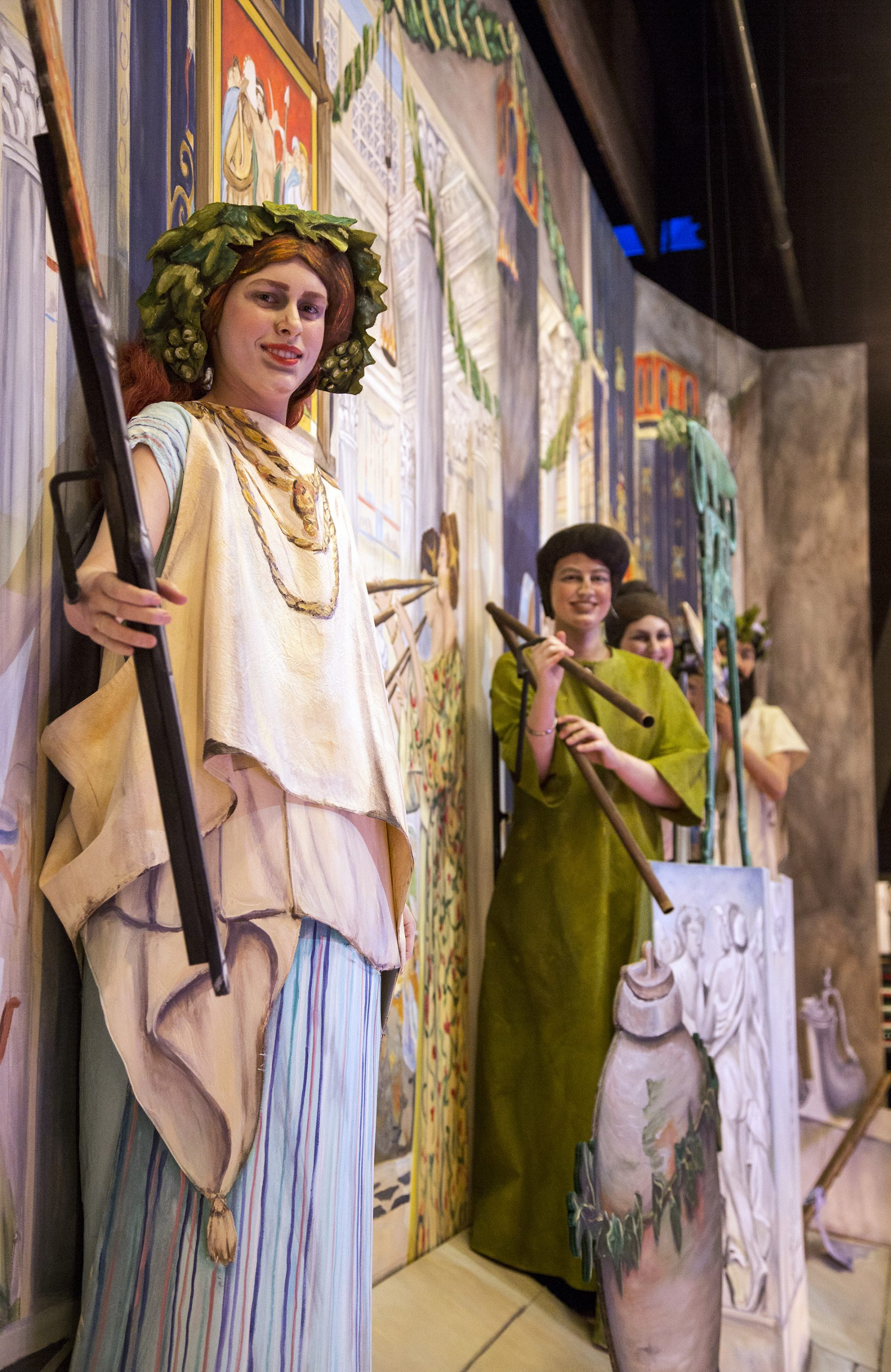 Pageant of the Masters, backstage, the Vintage Festival. Credit: Christopher Allwine.