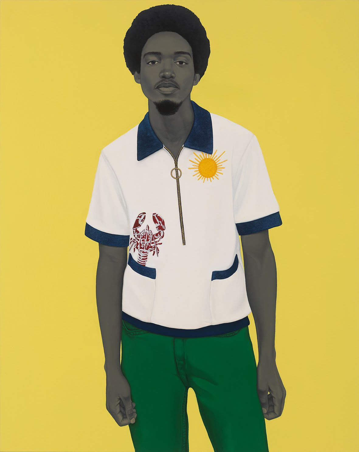 Amy Sherald, A bucket full of treasures (Papa gave me sunshine to put in my pockets...), 2020. Oil on canvas. 137.2 x 109.2 x 6.4 cm / 54 x 43 x 2 1/2 in. © Amy Sherald