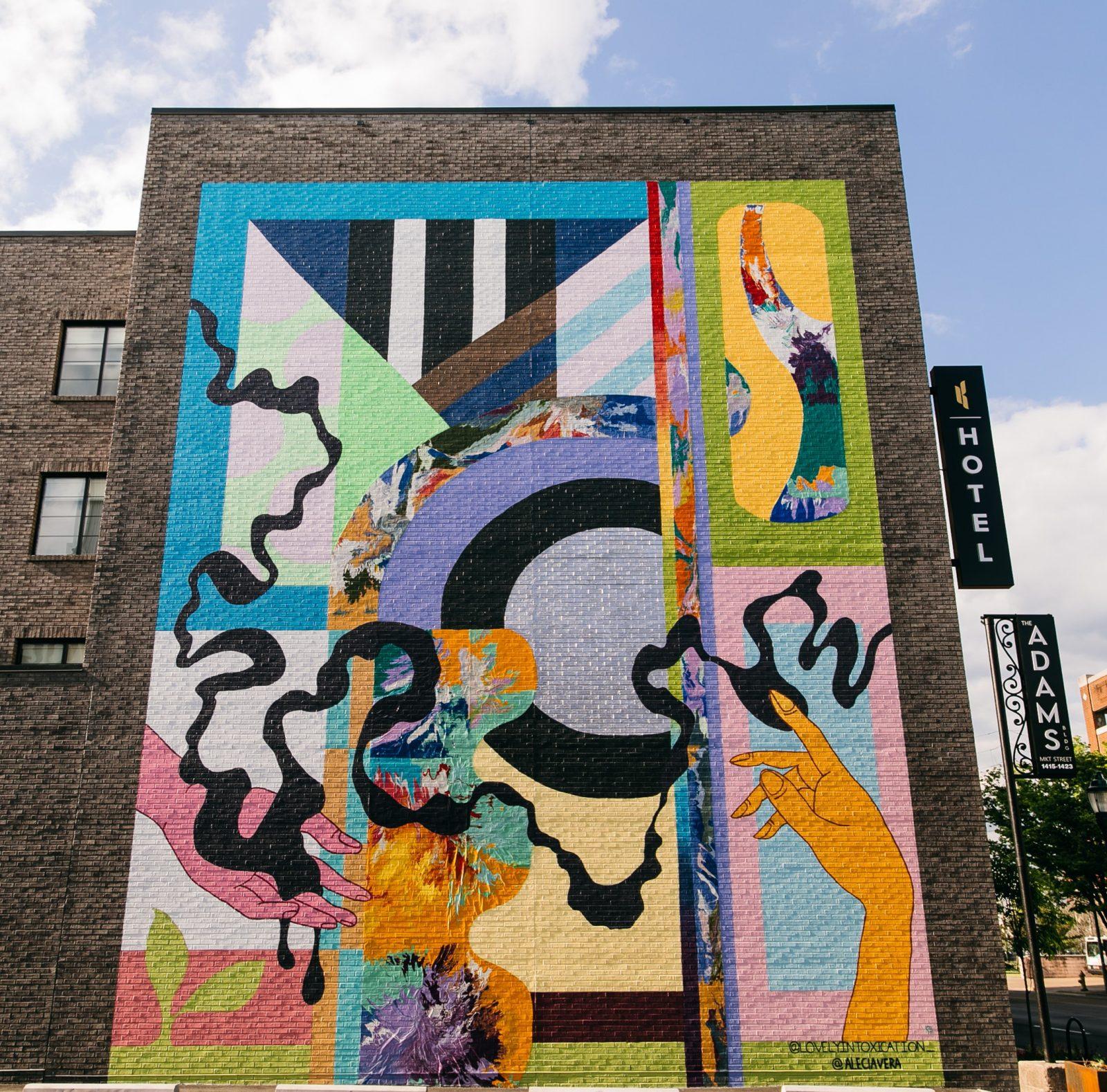 Communal Kaleidoscope - Exterior Mural by Alecia Buckles & Briah Gober