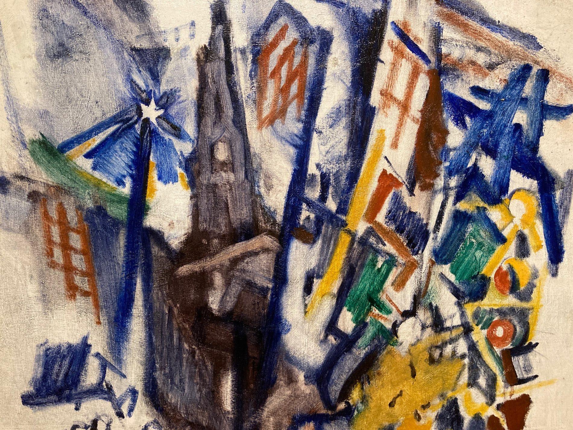 John Marin, Related to St. Paul's, New York, 1928, part of Cummer Museum Modern art collection