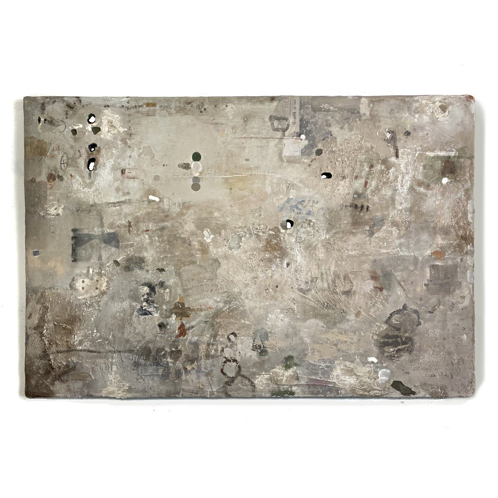 Show Me Love, Mixed Media Mortar Series on insulation, by Cydney Parkes