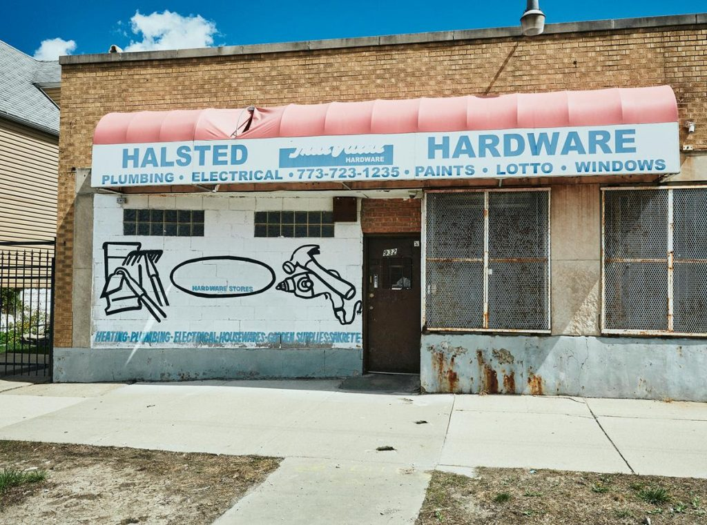Theaster Gates, How to Sell Hardware. Photo Sara Pooley