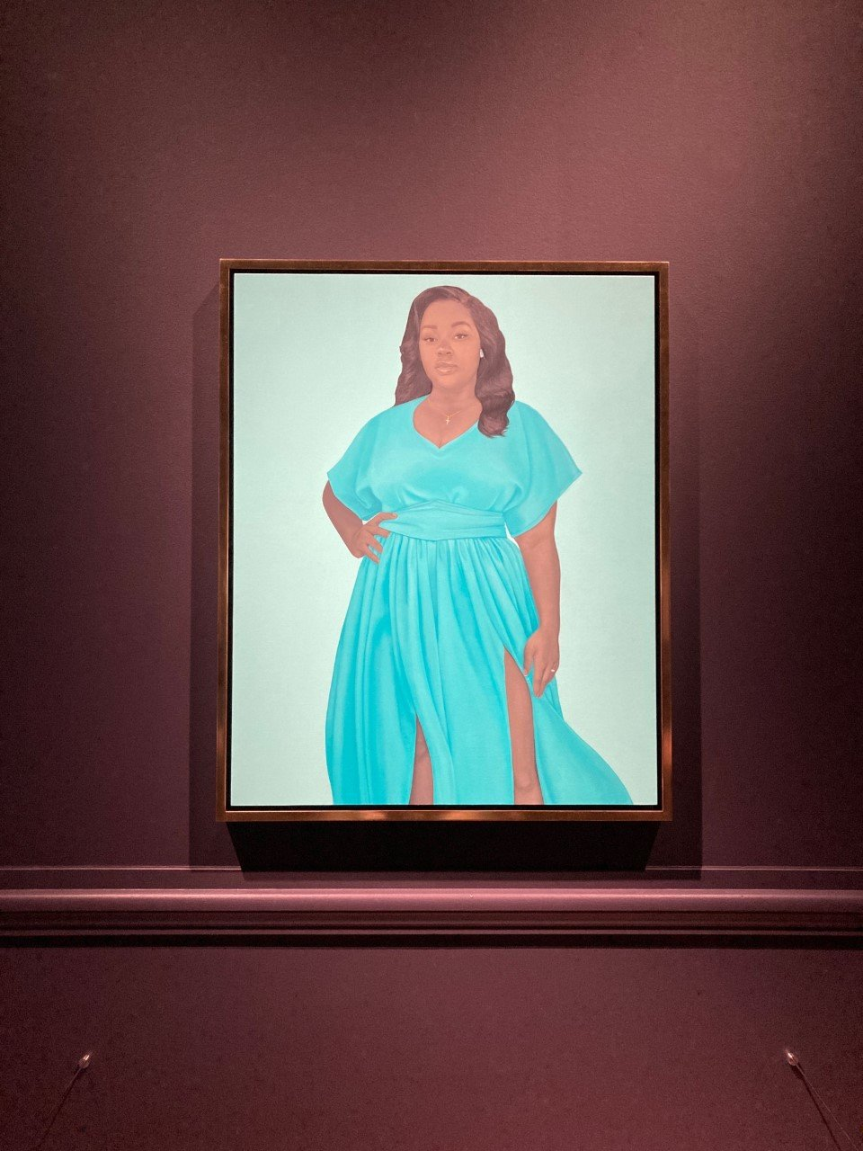 Amy Sherald portrait of Breonna Taylor at Speed Art Museum