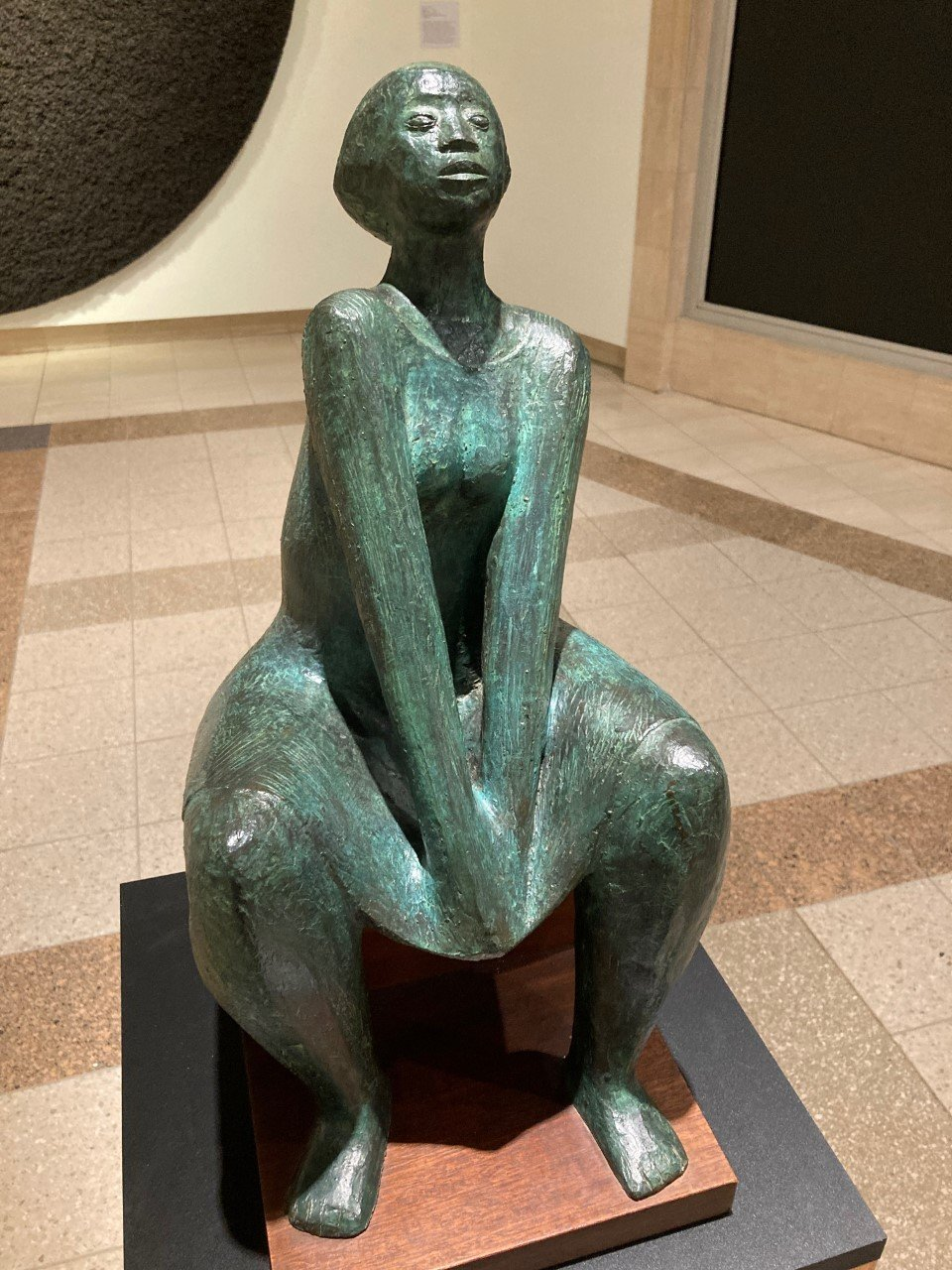 Elizabeth Catlett, (American, 1915-2012), 'Seated Woman,' c. 1961-1971, bronze.