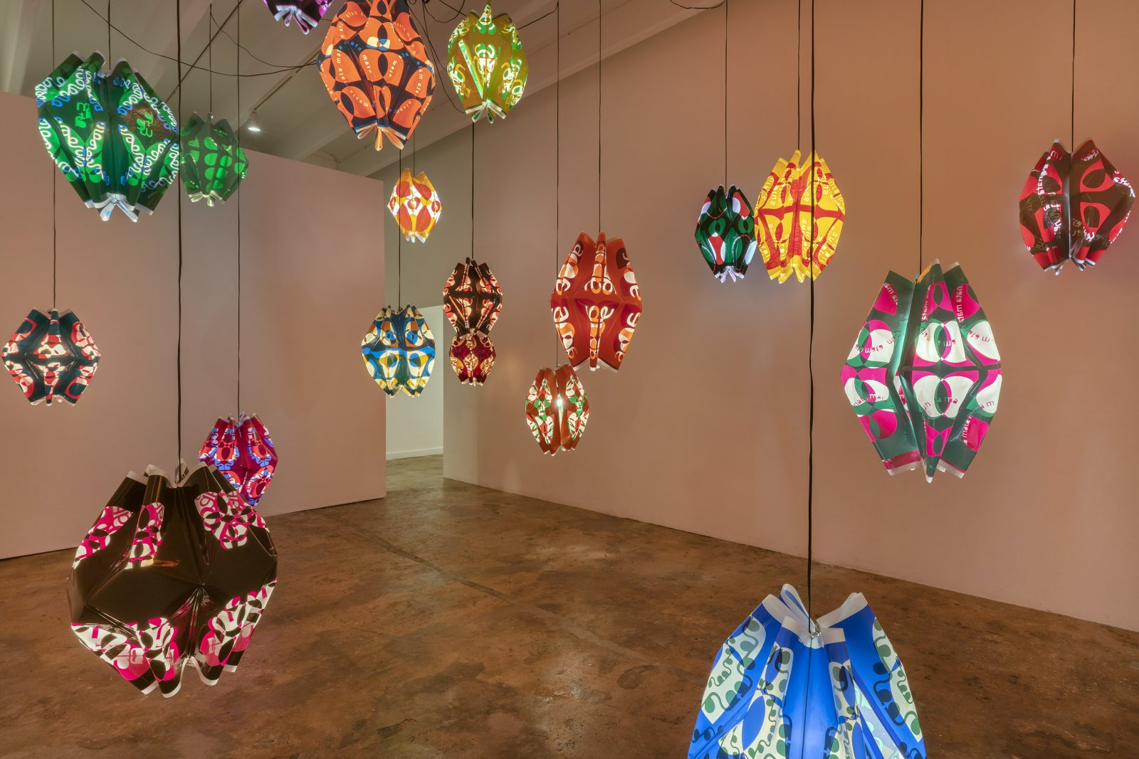 """""""Hialeah Eléctrica–Metavector"""" at The Bass Miami, installation view, by artists Rafael Domenech and Ernesto Oroza."""
