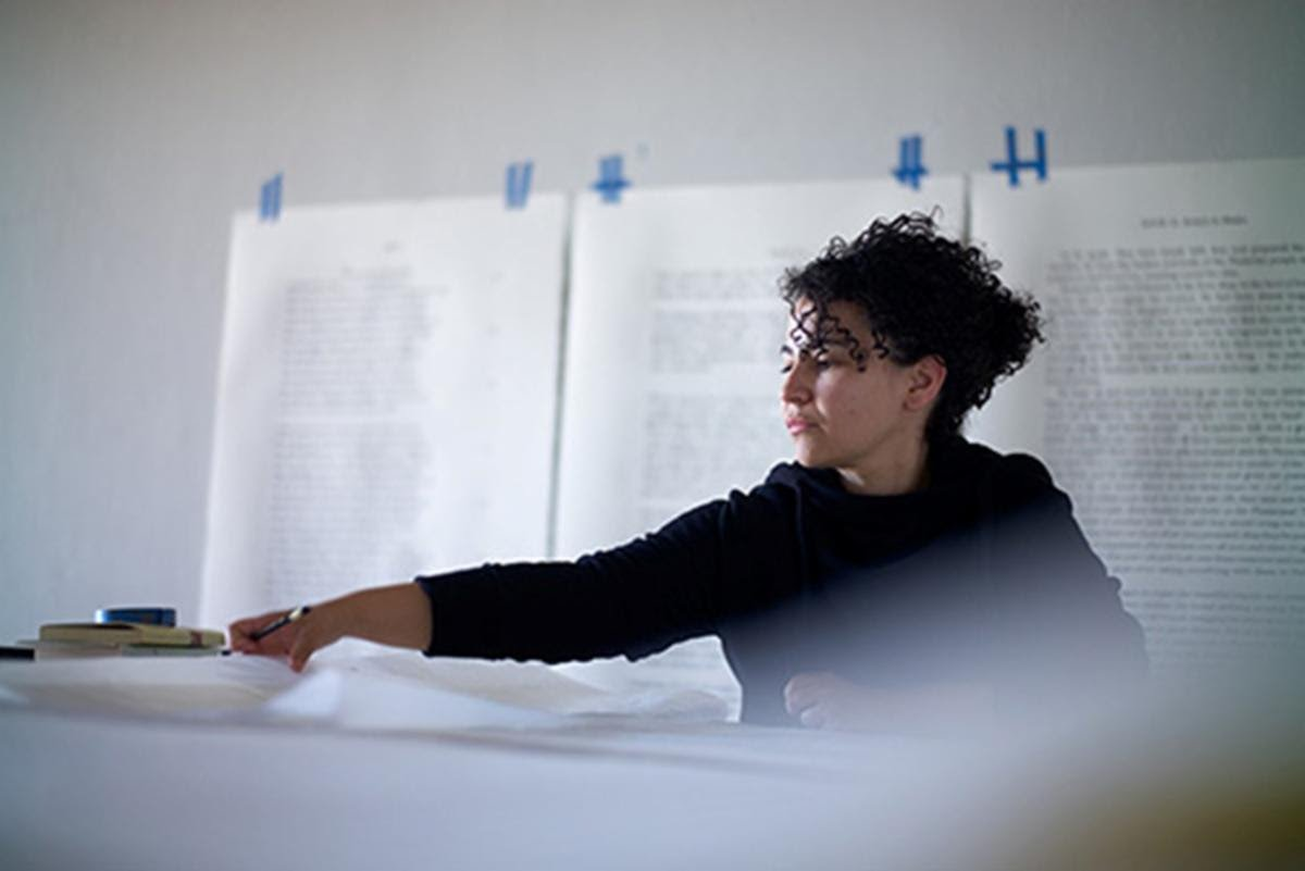 Bethany Collins. Image courtesy of the artist and PATRON Gallery, Chicago. Photo: Chris Edward
