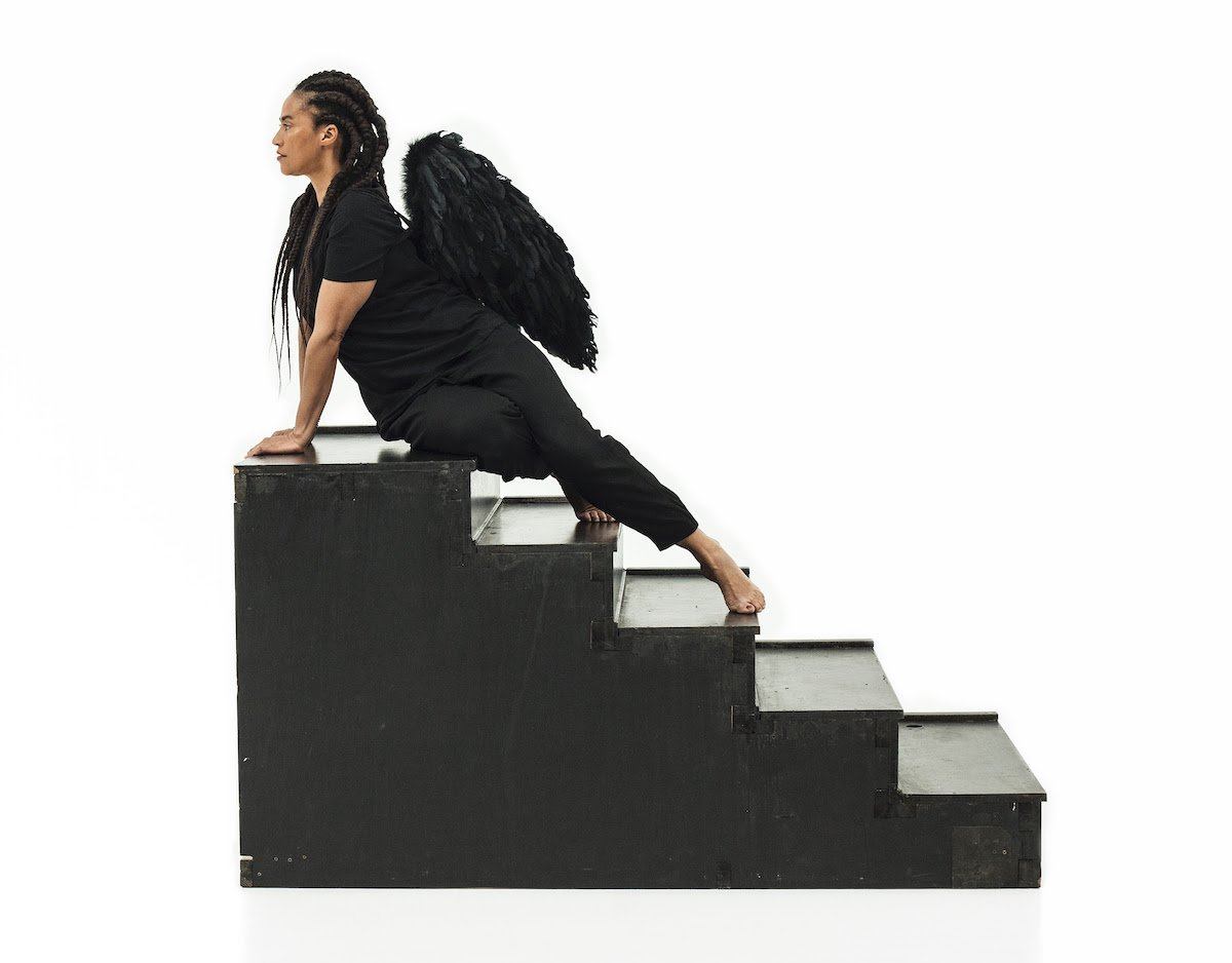Grada Kilomba, Heroines, Birds and Monsters series, Sphinx Act I, 2020. C-print, 60 x 40 in. © Grada Kilomba. Courtesy the artist, the Amant Foundation, and Goodman Gallery.