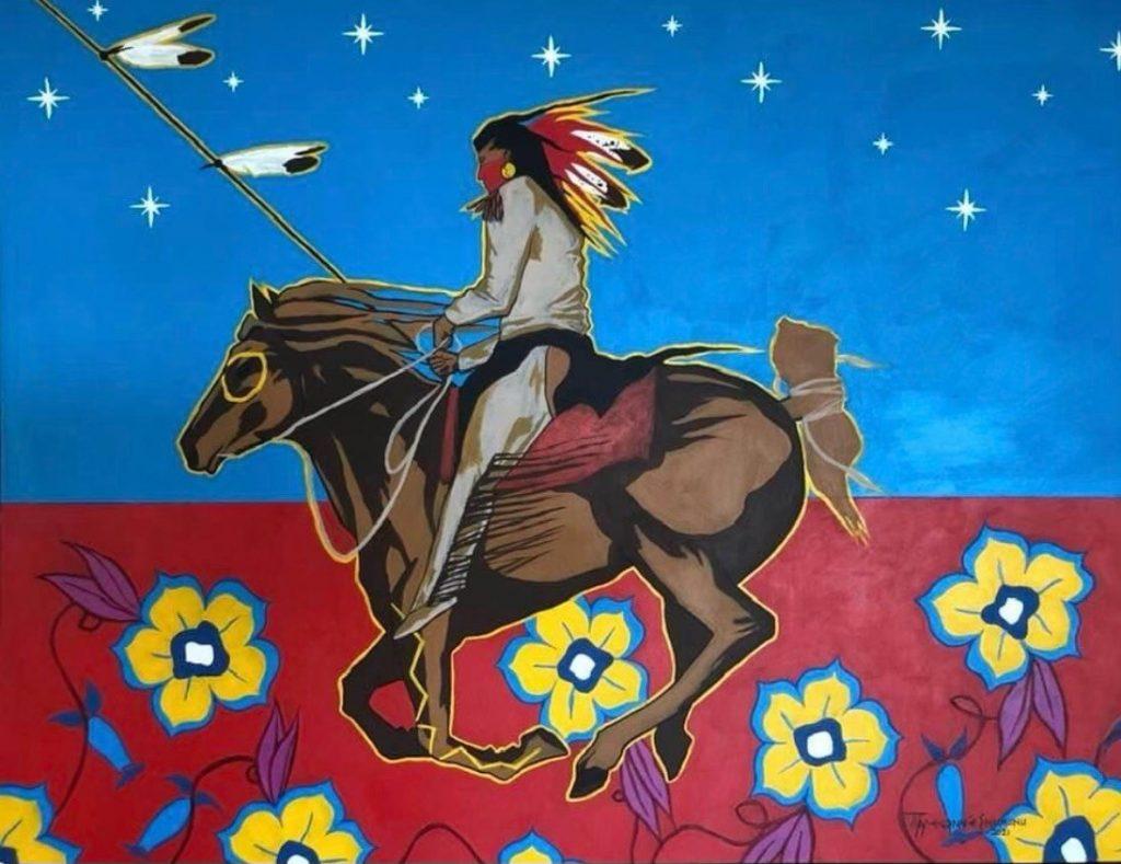 Eric Tippeconnic, 'Comanche Vanguard,' 36x48, 2021