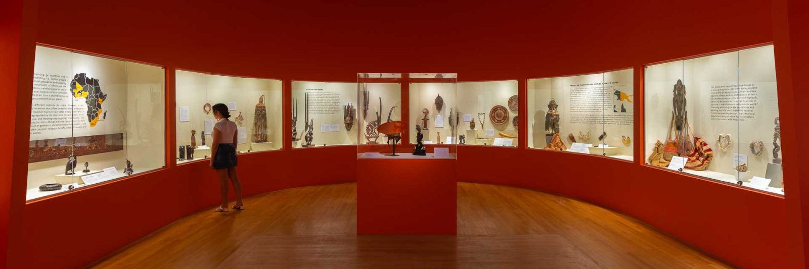 """""""Spirits: Ritual and Ceremonial African and Oceanic Art from the Dr. Alan and Linda Rich Collection,"""" installed in a new permanent gallery at Polk Museum of Art."""