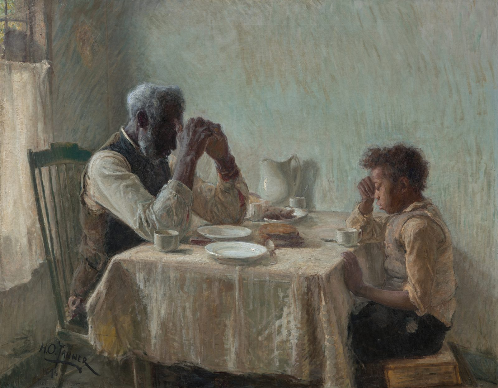 Henry Ossawa Tanner, The Thankful Poor (1894), after treatment. Courtesy of Art Bridges.