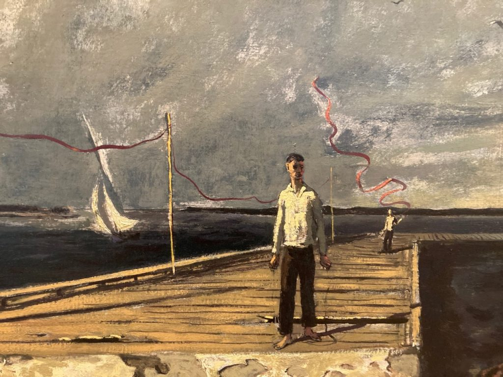 Hughie Lee-Smith, End of the Festival, 1954, oil on Masonite. Cummer Museum of Art and Gardens.