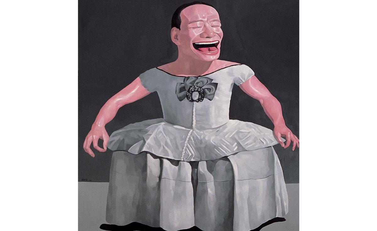 Yue Minjun, Infanta, 1997, Yuz Foundation, © Yue Minjun, photo courtesy Pace Gallery