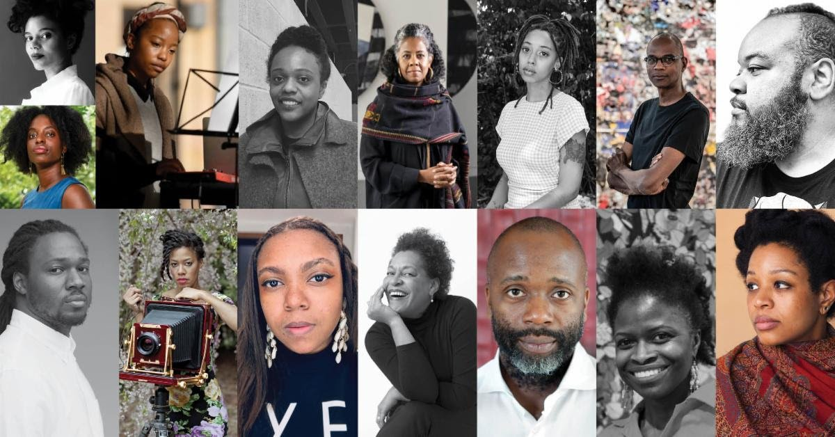Participating artists in the Mississippi Museum of Art and Baltimore Museum of Art Great Migration art project.