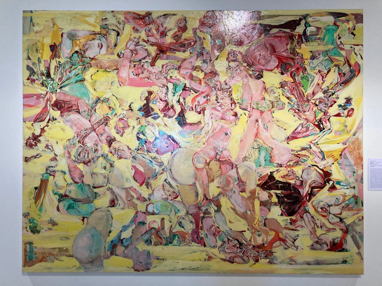 Cecily Brown Can Can, 1988. Oil on canvas. On loan to Cummer Museum from a private collection