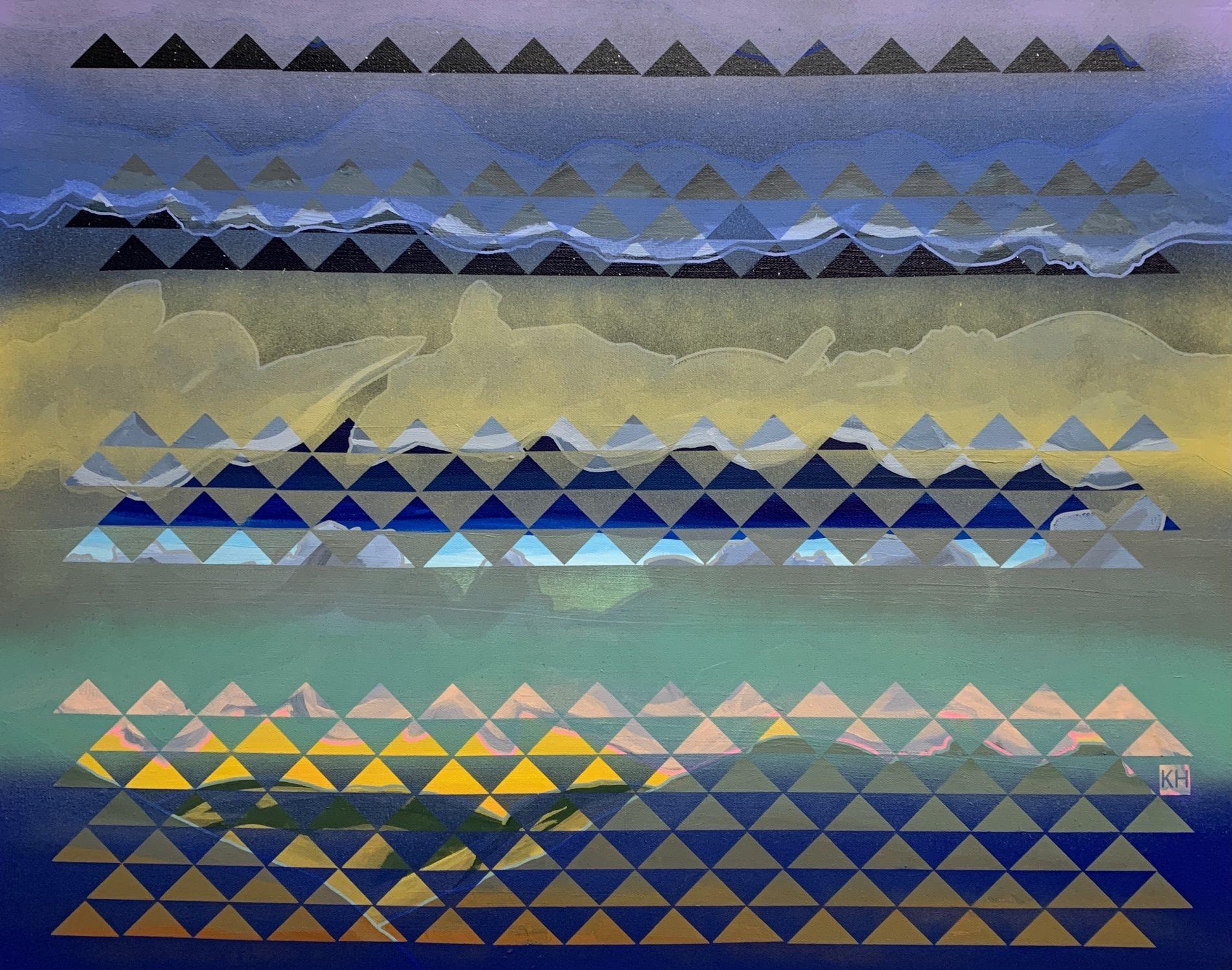 "Karma Henry, Eastward, acrylic on canvas, 24"" x 30"", 2020"
