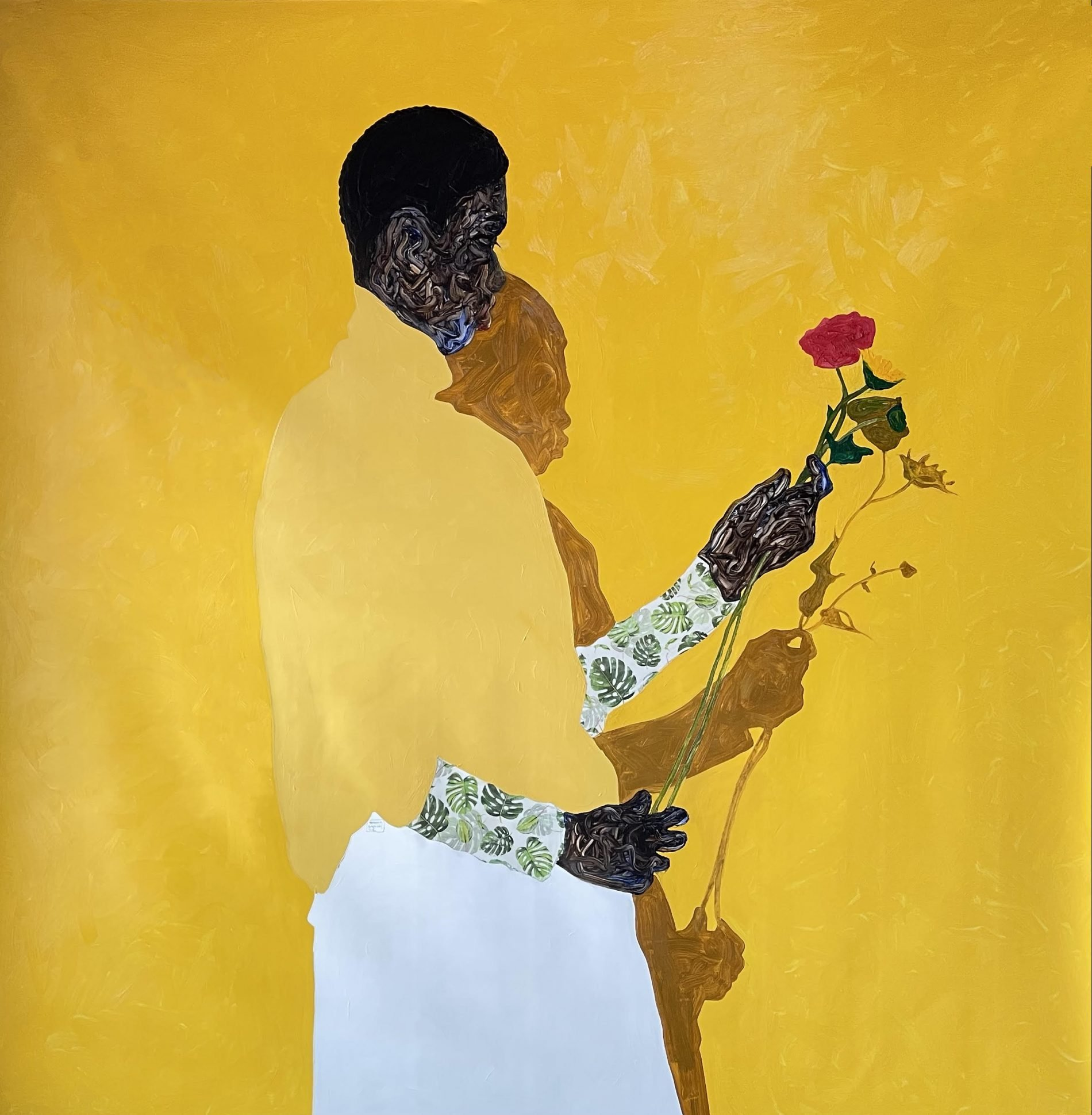 Amoako Boafo painting from Roberts Projects