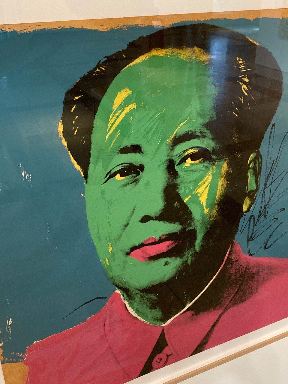 Andy Warhol, Mao, detail, set of 10, 1972. Silkscreen on paper. Cummer Museum of Art and Gardens.