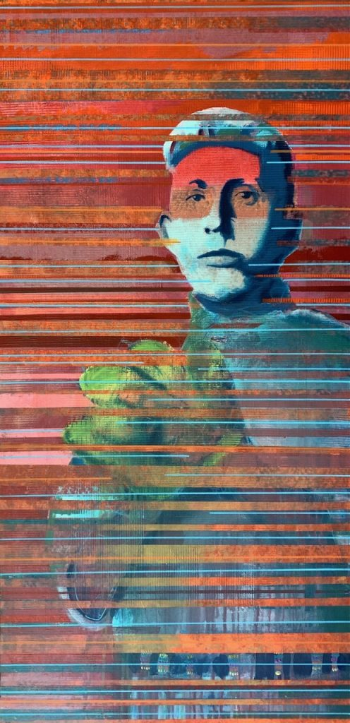 Billy Hensley, 'Baseballer,' 2020. Acrylic on canvas, 48x28 inches.