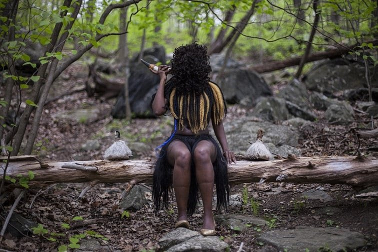 Adama Delphine Fawundu (born 1971, Brooklyn, NY; active New York), Aligned with Sopdet, 2017. Inkjet print; 74.9 × 112.4 × 4.4 cm (frame). Museum purchase, Fowler McCormick, Class of 1921, Fund (2021-90)