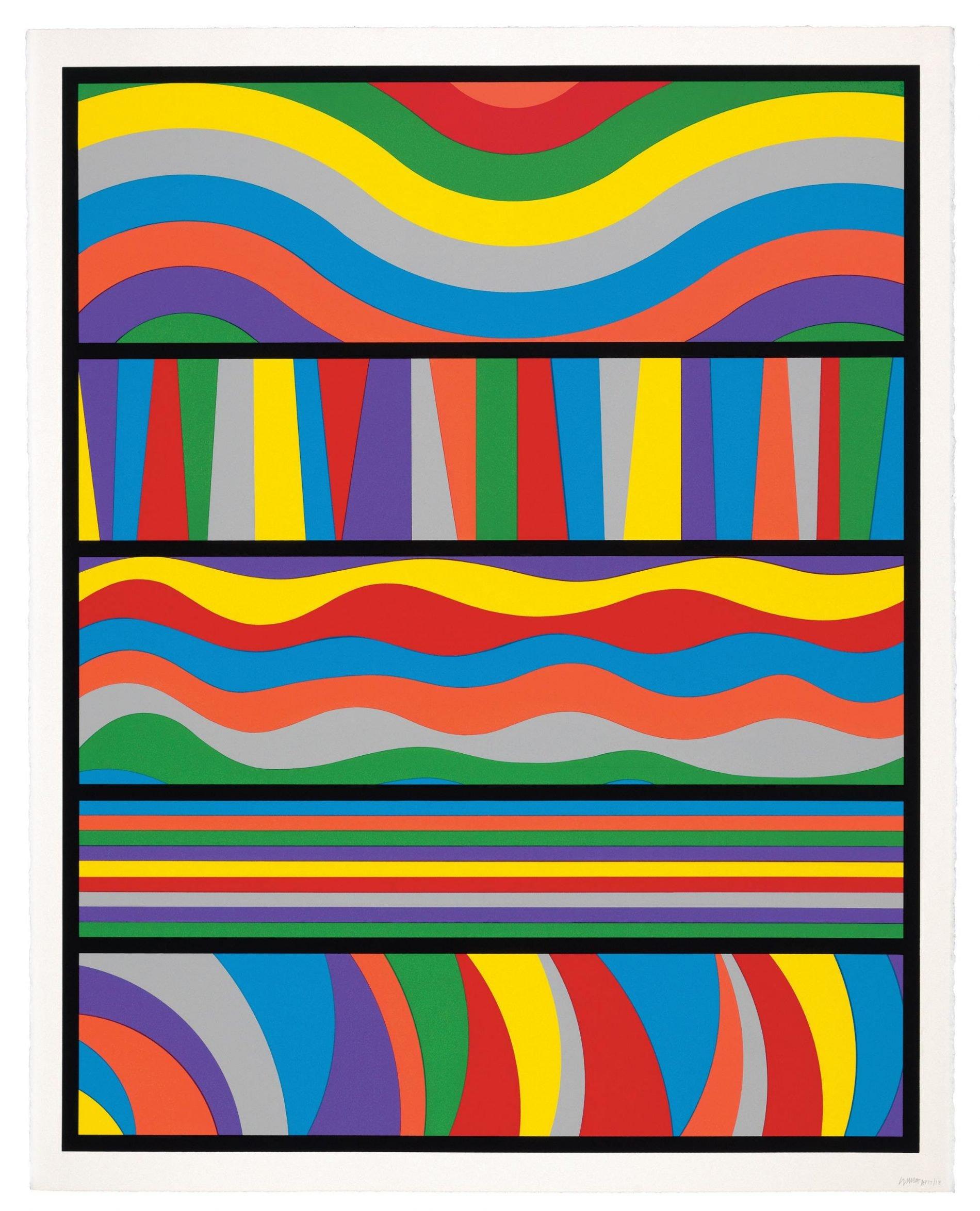 Sol LeWitt, Lincoln Center Print, 1998 LeWitt Collection