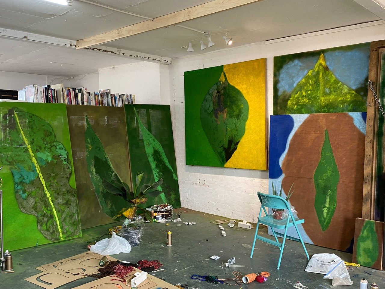 Alvaro Barrington studio, London, 2021. Courtesy of the artist.