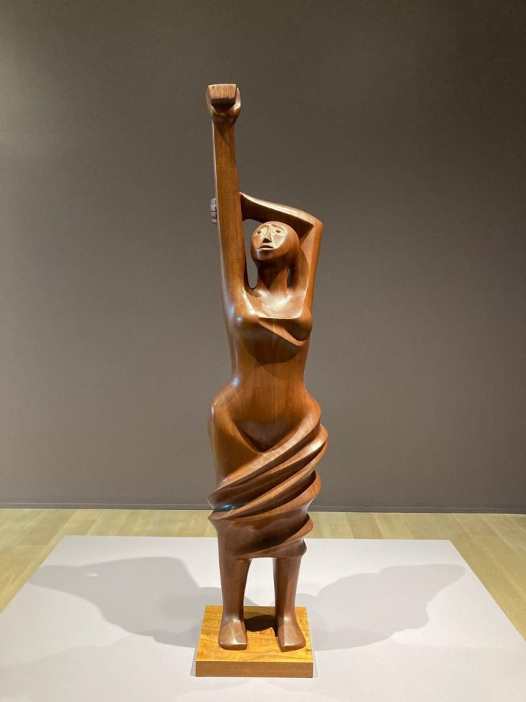 Elizabeth Catlett, Homage to Black Women Poets, 1984. Mahogany. SCAD Museum of Art.