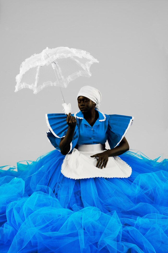 Mary Sibande. I'm A Lady, 2009. Color print, edition of 9/10 + 3 AP, 35 3/8 x 23 5/8 in. Courtesy of the artist and SMAC Gallery, Cape Town, South Africa. © Mary Sibande