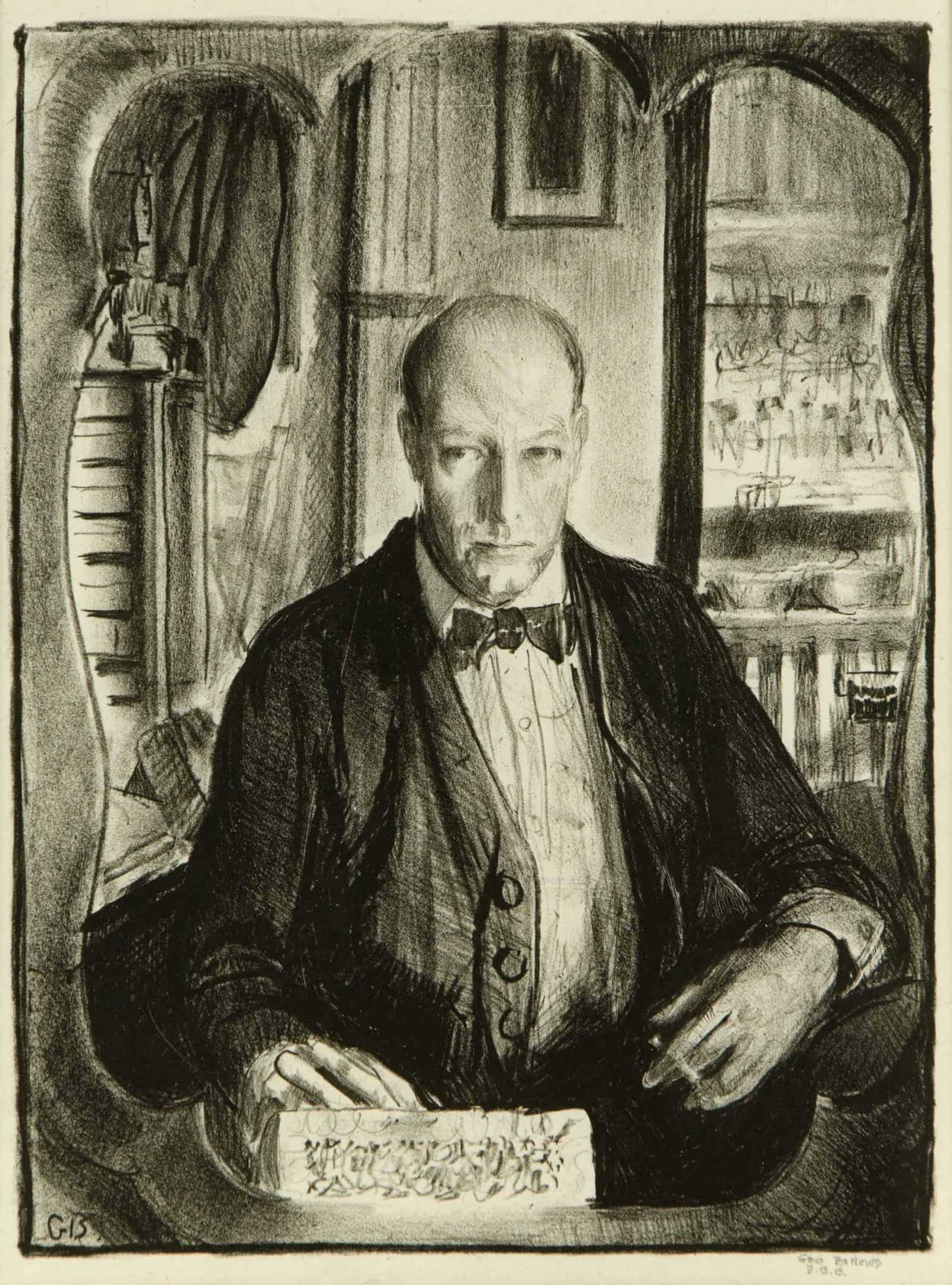 George Bellows, Self-Portrait Lithograph, 1921 Museum Purchase with funds provided by Lois Chope
