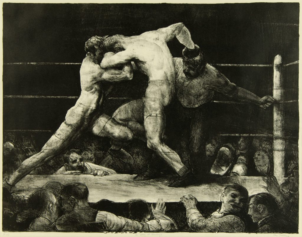 George Bellows, A Stag at Sharkey's Lithograph, 1917 Museum Purchase with funds provided by a gift from Mr. and Mrs. Frederick Jones, by exchange